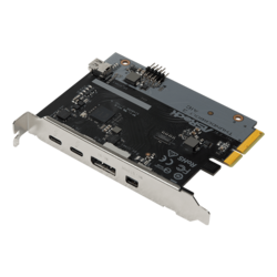 Thunderbolt™ 3 AIC R2.0, 2x Thunderbolt™ 3 / DP / Mini DP, Internal Mini DP, PCIe x4 Expansion Card