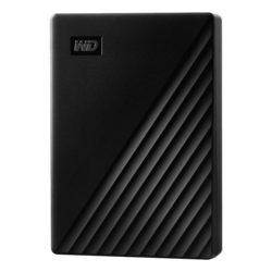 4TB My Passport, USB 3.2 Gen1, Portable, Black, External Hard Drive