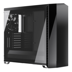 Vector RS - Blackout TG Tempered Glass, No PSU, E-ATX, Mid Tower Case