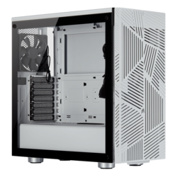 275R Airflow Tempered Glass, No PSU, ATX, White, Mid Tower Case