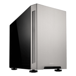 TU150-WA Tempered Glass, No PSU, Mini-ITX, Silver, Mini Tower Case
