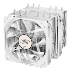 NEPTWIN WHITE, White LED, 159mm Height, 130W TDP, Copper/Aluminum CPU Cooler