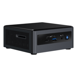"NUC 10 Performance NUC10i7FNHAA, Intel® Core™ i7-10710U, 2x DDR4 SO-DIMM (16GB pre-installed), M.2 (256GB NVMe pre-installed), 2.5"" HDD/SSD (1TB HDD pre-installed), Intel® UHD Graphics, Windows 10 Home, Mini PC"