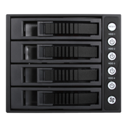 "BPU-340MS-BLACK 3x 5.25"" to 4x 3.5"" 2.5"" 12Gb/s HDD SSD SFF-8643 Hot-swap Rack"
