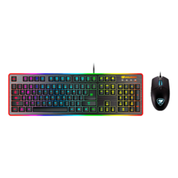DEATHFIRE EX, 8-Colour Backlight, 2000 dpi, Wired USB, Black, Hybrid Mechanical switches, Keyboard & Mouse