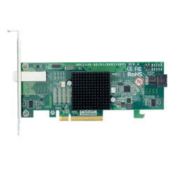 ARC-1330-4I4X, SAS 12Gb/s, 8-Port, PCIe 3.0 x8, Host Bus Adapter, Includes 1x Internal MiniSAS HD (SFF-8643) to SFF-8644 Cable