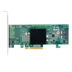 ARC-1330-8I, SAS 12Gb/s, 8-Port, PCIe 3.0 x8, Host Bus Adapter, Includes 2x Internal MiniSAS HD (SFF-8643) to SFF-8644 Cable