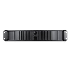 "D Storm D-200SEA-BK-RAIL24, Black Bezel, 2x 5.25"", 2x 3.5"" Drive Bays, w/ 20"" Sliding Rail Kit, No PSU, ATX, Black, 2U Chassis"