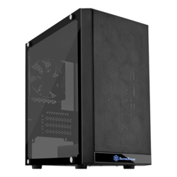 Precision Series SST-PS15B-G Tempered Glass, No PSU, microATX, Black, Mini Tower Case