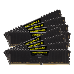 256GB Kit (8 x 32GB) Vengeance LPX DDR4 3200MHz, CL16, Black, DIMM Memory