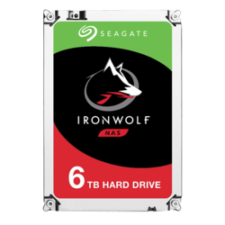 6TB IronWolf ST6000VN001, 5400 RPM, SATA 6Gb/s, 256MB cache, 3.5-Inch HDD