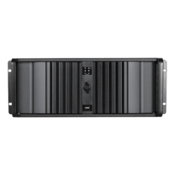 "D Storm D-400SEA-BK-RAIL24, Black Bezel, 4x 5.25"", 3x 3.5"" Drive Bays, w/ 20"" Sliding Rail Kit, No PSU, ATX, Black, 4U Chassis"