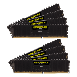 64GB Kit (8 x 8GB) Vengeance LPX DDR4 2933MHz, CL16, Black, DIMM Memory