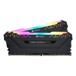 64GB Kit (2 x 32GB) Vengeance RGB Pro DDR4 3200MHz, CL16, Black, RGB LED, DIMM Memory