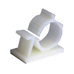 Self-Adhesive Wire Clip, Multi-purpose, 35x20mm, Ivory