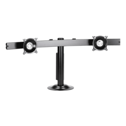 "KTG225B Display Stand - Widescreen Dual Monitor Grommet Mount Up to 70lb Up to 30"" Monitor Black"