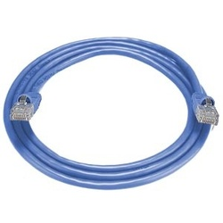 CAT5e Stranded Unshielded Cable, Blue, 10 feet