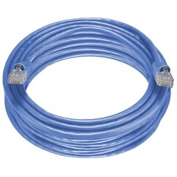 CAT5e Stranded Unshielded Cable, Blue, 50 feet