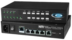 4-port Console Serial Port Switch with Ethernet Control & Dual Power