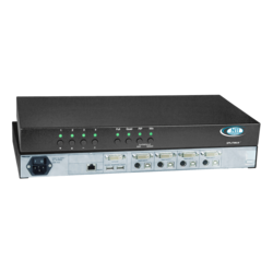 DVI/VGA Quad Screen Multiviewer with Built-In KVM Switch