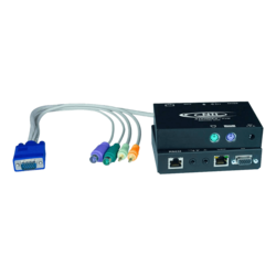 Hi-Res VGA PS/2 KVM Extender with Two-Way Audio via CATx to 1,000 feet