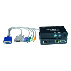 Hi-Res VGA PS/2 KVM Extender with Two-Way Audio + RS232 via CATx to 1,000 feet