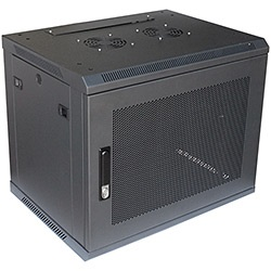 W-609 Rack Enclosure w/ Vented Front Door, Wall Mounting, 9U, 597mm x 450mm