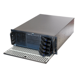 "RPC-450FH, 3x 5.25"", 5x 3.5"" Hotswap and 5x 3.5"" Internal Drive Bays, No PSU, CEB, Black, 4U Chassis"
