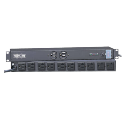 Isobar Network Server Surge Protector, 1U Rack-Mount, 15-ft Cord, 3840 Joules, 5-20P, 20A, 2400W, 120V AC, Black