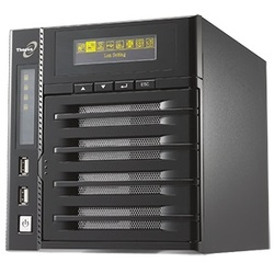 N4200Eco Storage System, Intel® Atom™ D525 1.8GHz, DDR3 1GB, SATA RAID 6 HS /4, GbLAN /2, USB 2.0 /6, External PSU