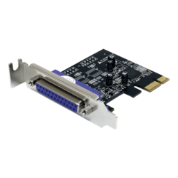 PCI Express to Parallel Adapter Card, PCIe x1, Full-height/Low-profile, Retail
