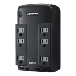 Standby CP350SLG, 350VA/255W, 120V, 6 Outlets, Black, Tower UPS
