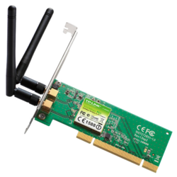 TL-WN851ND, Internal, IEEE 802.11n / g / b, 2.4GHz, 300 Mbps, PCI, t PCI, Retail Wireless Adapter