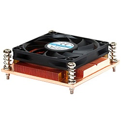 DEN-A Socket 1155/1156 Active 1U Server CPU Cooler, 5500 RPM, Copper