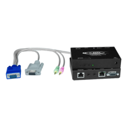 Hi-Res VGA Transmitter with Two-Way Audio and RS232 via CATx to 1,000 feet