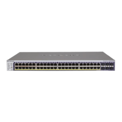 ProSAFE GS752TPSB-100NAS, 48 x RJ45, 2 x Combo, 4 x SFP, 10/100/1000Mbps, PoE+ Smart Managed Ethernet Switch Retail