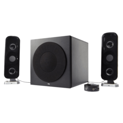 CA-3908, 2.1 (2 x 10W + 26W), Wired Remote, Black, Retail Speaker System
