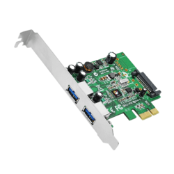 JU-P20612-S1 Dual Profile PCIe adapter with 2 USB 3.0 ports