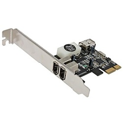 RC-504 3-port IEEE-1394/FireWire Card, PCIe x1, Retail