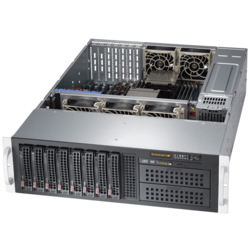 SuperServer 6037R-72RFT+, 3U, Intel C602J, 8x SATA/SAS, 24x DDR3, Dual 10Gb Ethernet, 1280W Rdt PSU