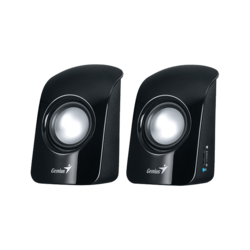 SP-U115, 2.0 (2 x 0,5W), Black, Retail Speaker System