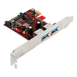 PCI-E 1x2.0 to 2-Port USB3.0