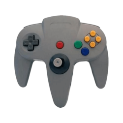 CIRCA, M05786-GR, Nintendo 64, Controller with long handle, Gray
