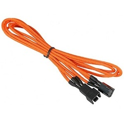 Orange Alchemy Multisleeved 3-Pin Fan Extension Cable, 60cm