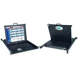 17.1 inch High Resolution DVI USB KVM Drawer with 4-Port High Density Switch & Numeric Keypad