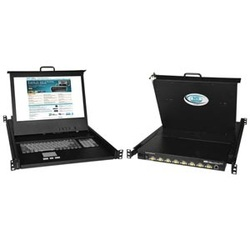 17 inch Hi-Res VGA USB + PS/2 KVM Drawer with Numeric Keypad + 24V power
