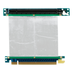 DD-666-C5-02, PCIe x16 to PCIe x16 Riser Card with 5cm Ribbon Cable