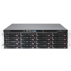 SuperStorage Server 6038R-E1CR16H, 3U, Intel C612, 16x SATA/SAS, LSI 3108 12Gbps SAS, 16x DDR4, Dual 10Gb Ethernet, 920W Rdt PSU