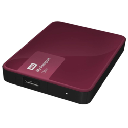 3TB My Passport Ultra, USB 3.0, Premium Portable, Berry, External Hard Drive