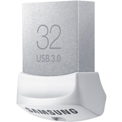 FIT 32GB, USB 3.0 Flash Drive, 130MB/s, White, Retail